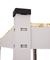 200х100х40, 250 кг на полку 5 полок ДСП/МДФ СТ-13 Стандарт полочный  на зацепах торговый оцинкованный на склад, фото 8
