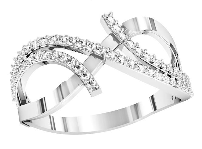 Кольцо  женское серебряное Бриллиантовые полосы 111 920