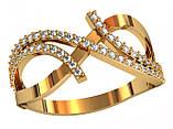 Кольцо  женское серебряное Бриллиантовые полосы 111 920, фото 2