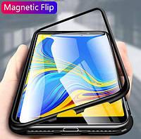 Магнитный чехол для Samsung Galaxy A9 2018 бампер накладка Case Magnetic Frame черный