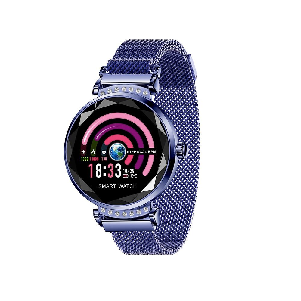 "Жіночий Смарт-браслет SUNROZ H2 смарт-годинник 1.04"" IP67 Синій (SUN3300)"