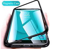Магнитный чехол для Samsung Galaxy J4 Plus 2018 бампер накладка Case Magnetic Frame черный