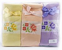 """Набір вафельних рушників """"Flowers""""для кухні, 12 шт., 45х70 см (Туреччина)"""