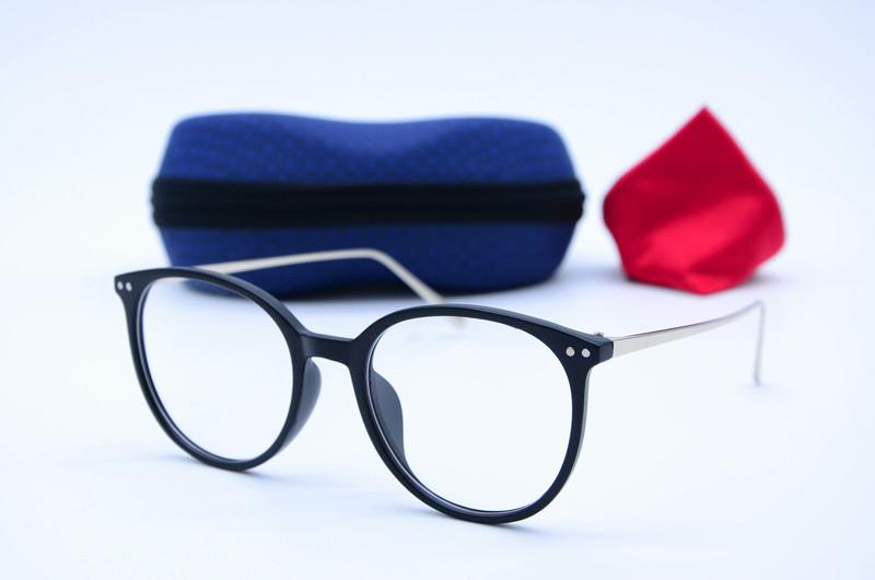 Женские круглые имиджевые черные очки 1135