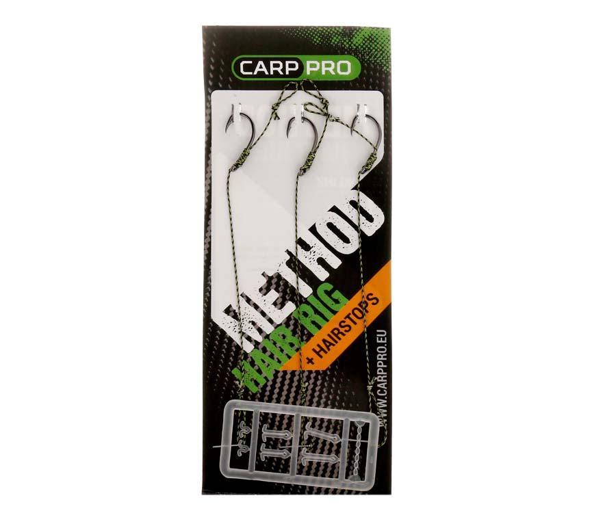 Готовые поводки с крючками Carp Pro Method Hair Rig Hooklink 25 lb №6
