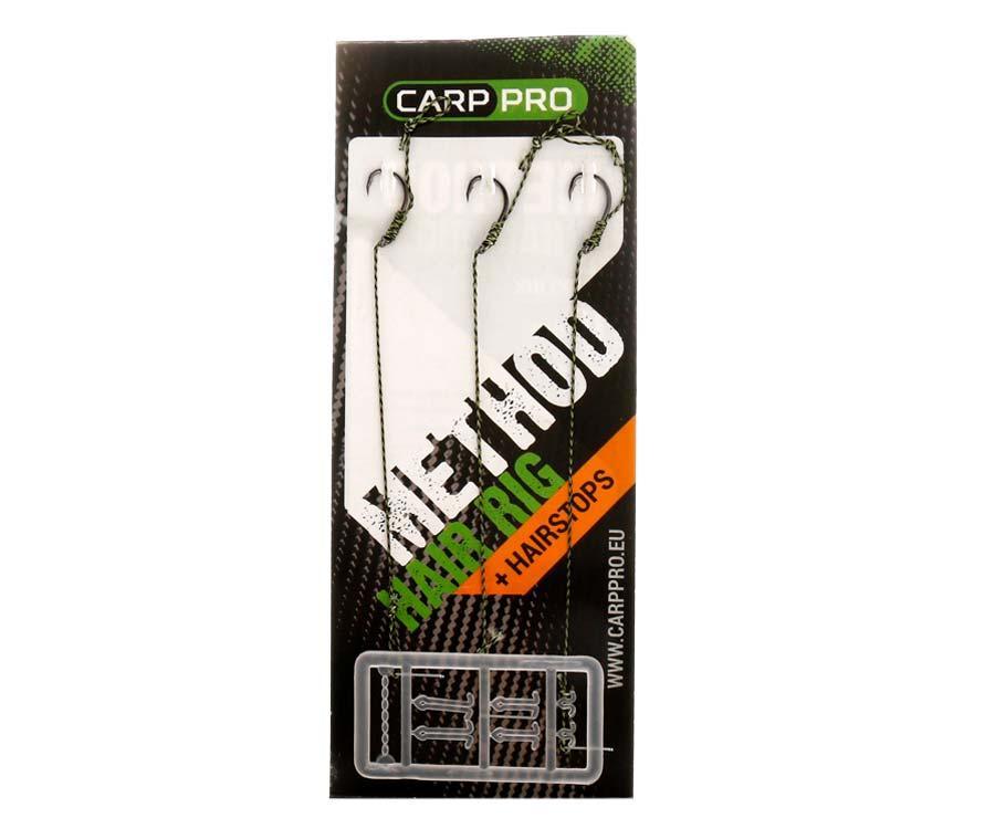 Готовые поводки с крючками Carp Pro Method Hair Rig Hooklink 25 lb №8