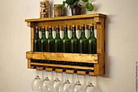 Полка винная из натурального дерева для дома и дачи, от производителя, по всей Украине