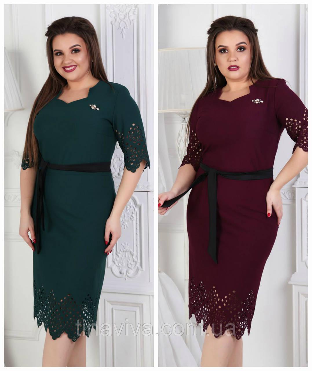"""Женское  платье большого размера """"Вираж"""" (жіноче плаття ) баталл  два цвета"""