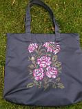Текстильна сумка з вишивкою Шопер 27, фото 7