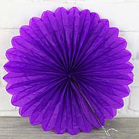 Віяло гармошка з папірусного паперу для декору фіолетовий діаметр 30 см