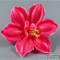 Гибискус двойной - мокрый шелк NТ 015 - F 070 (100 шт./ уп.) Искусственные цветы оптом, фото 1