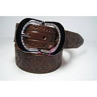 Ремень женский кожаный (коричневый) Andi 1171_030