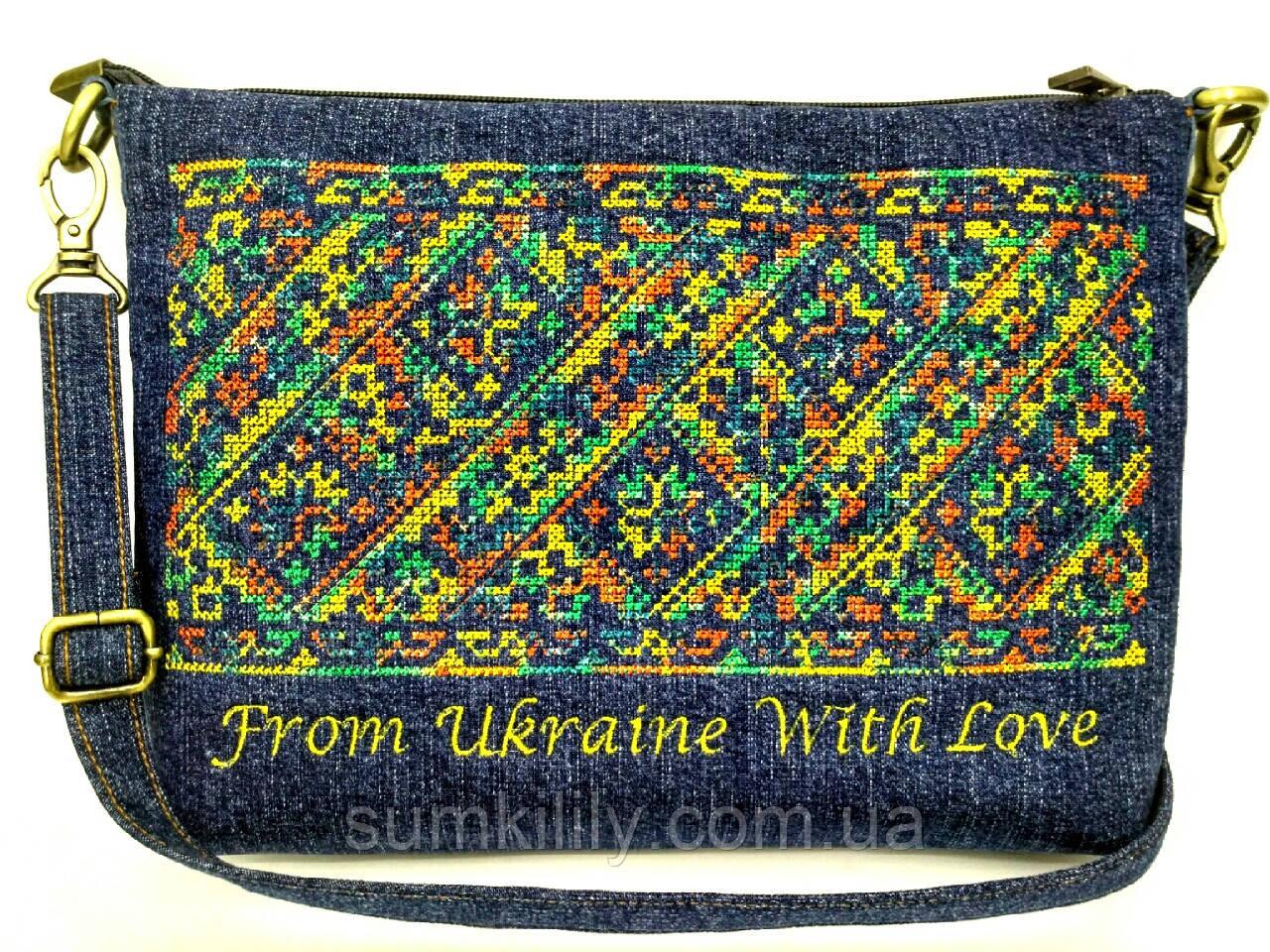 Текстильная сумка с вышивкой 6