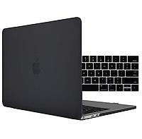 Чехол накладка Apple MacBook Pro 15 A1990 A1707 with Touch Bar, Touch ID 2018-2016 Защита черный