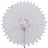 Веер гармошка из папирусной бумаги для декора БЕЛЫЙ   диаметр 40 см