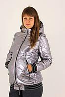 Стальная демисезонная куртка для беременных METALLIC, фото 1