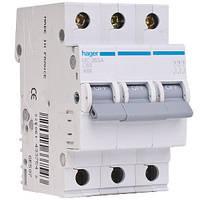 Автоматический выключатель 4A, 3п, C, 6kA, MC304A Hager