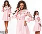 Нарядное платье с рукавом три четверти (розовый) 827023, фото 2
