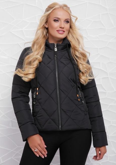 Женская демисезонная куртка   от производителя    42-48 черный