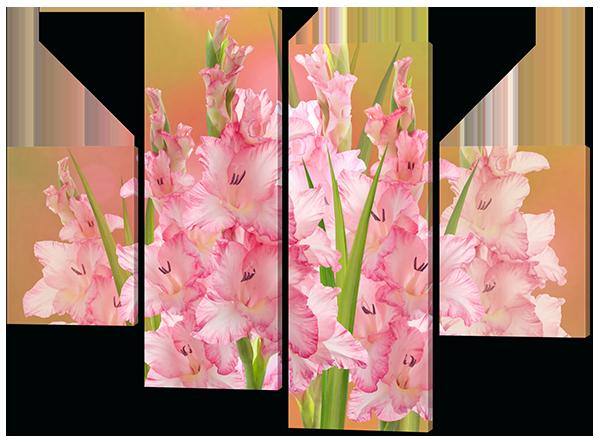Модульная картина Interno Холст Цветы Гладиолусы 126х93см (R442М)