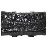 Кошелёк женский из кожи крокодила 1025. PCM 03 BT Black, фото 1