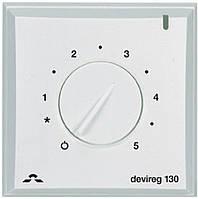 Терморегулятор Danfoss Терморегулятор DEVIreg 130, (+5+45С), механический, датчик на проводе 3м, 82 х 82мм, макс. 16A, белый