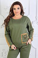 Женский модный костюм ЕО090(бат), фото 1
