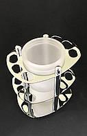 Подставка-стакан для зубных щеток и пасты настольный