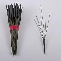 Ножка  на 6 голов, 30 см (100 шт./ уп.) Искусственные цветы