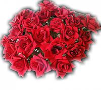 Роза бархат на ножке, 65 см (25 шт./ уп.) Искусственные цветы оптом, фото 1