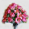 Букет розы с лилией NC-16-73, (6 шт./уп.) Искусственные цветы оптом