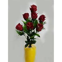 Букет роз на 7 голов NY-125 (14 шт./уп.) Искусственные цветы оптом, фото 1