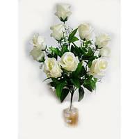 Букет роз, на 12 головок NC-16-75 (14 шт./уп.) Искусственные цветы оптом, фото 1