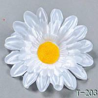 Ромашка атлас NT-203 (400 шт./ уп.) Искусственные цветы оптом, фото 1