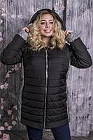 38b4fd122775 Черная куртка для полных женщин Дебют, цена 1 100 грн., купить в ...