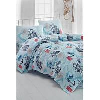 Комплект постельного белья Eponj Home - Marine Turkuaz из ранфорса