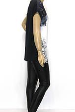 Жіноча подовжена футболка принт стрекоза, фото 3
