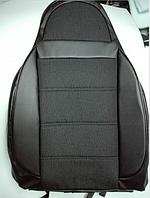 Чехлы на сиденья Рено Трафик (Renault Trafic) 1+1 (универсальные, кожзам+автоткань, с отдельным подголовником)