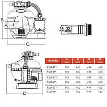 Фильтрационная установка Emaux FSU-8TP (8 м3/ч, D300) для бассейна объёмом до 32 м3, фото 2