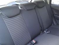 Чехлы на сиденья Рено Мастер (Renault Master) 1+2 (модельные, автоткань, отдельный подголовник, логотип)