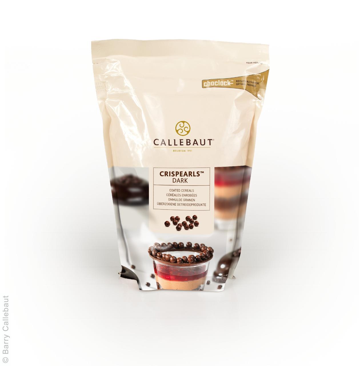 """Crispearls Dark (шоколадное драже) черный шоколад 0,8 кг ТМ """"Callebaut"""""""