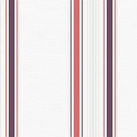 """Обои виниловые """"вертикальные полосы"""" универсальные, белые с корралловым, 0,53 Х 10 – Vinil ВК2-0812"""