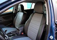 Чехлы на сиденья Рено Меган 2 (Renault Megane 2) (универсальные, кожзам, с отдельным подголовником)