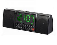Портативная колонка с часами USB Радио Bluetooth WS-1515 BT
