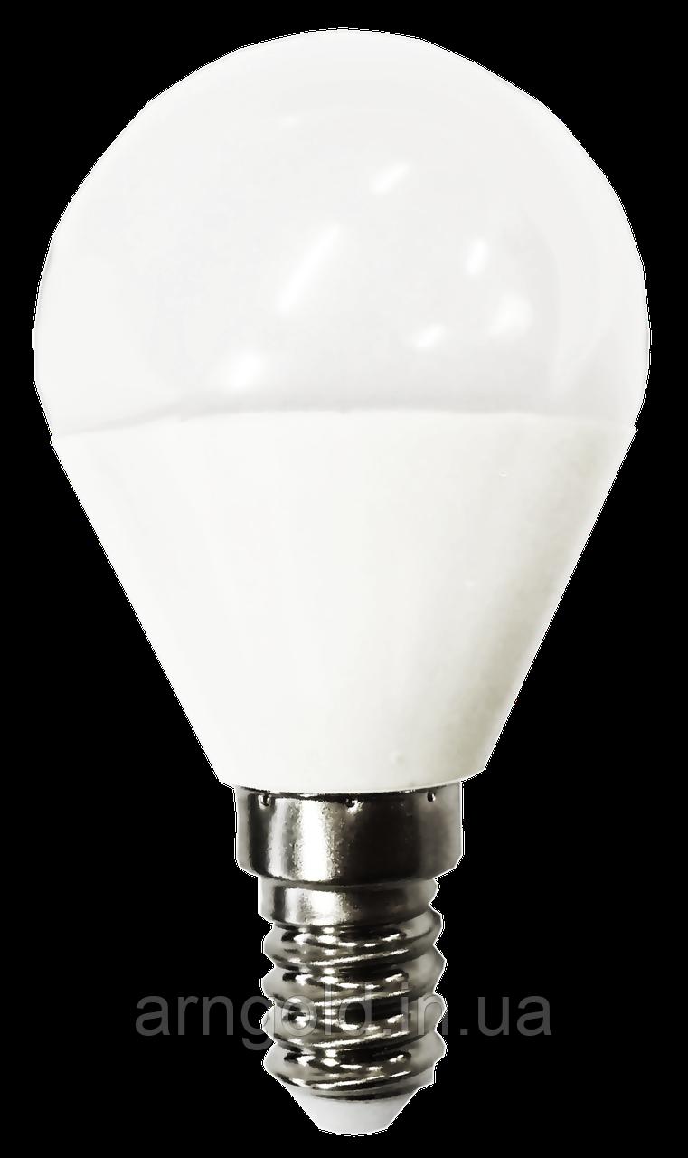 Лампа светодиодная шар 6W Е14 220V