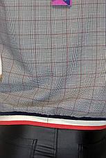 кофта в клітинку з коротким рукавом Mari Time, фото 3