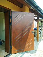 Входные двери размерами 1150 на 2100 с замками и отделкой влагостойкой фанеры
