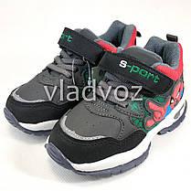 Детские кроссовки для мальчика спайдер мен серый с черным 26р., фото 3
