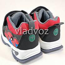 Детские кроссовки для мальчика спайдер мен серый с черным 26р., фото 2