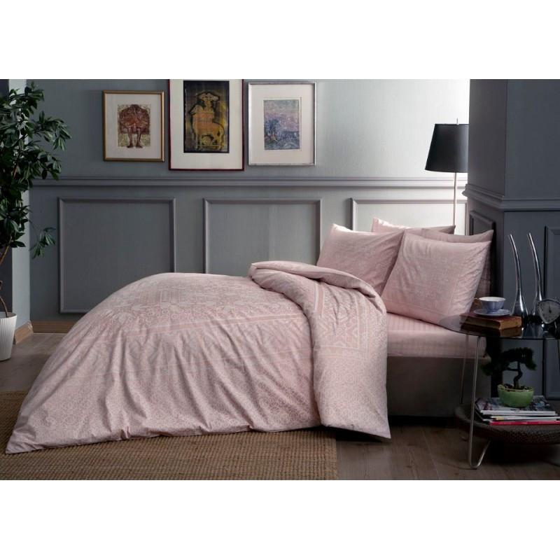 Постельное белье Tac сатин - Fabian pembe v52 розовый семейное
